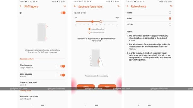 Asus ROG Phone 2 air triggers Asus