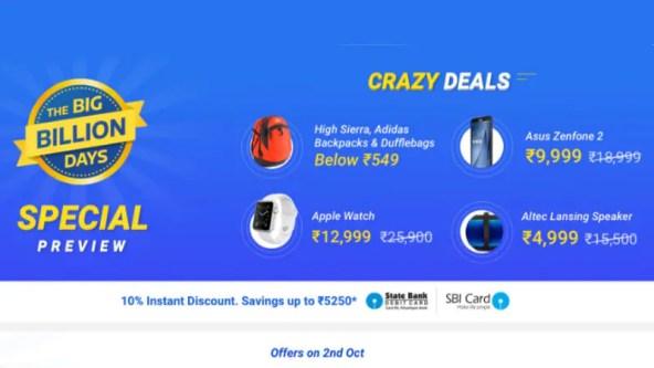 Flipkart Big Billion Day Sale: Moto X Play, LeEco Le 2, Asus ZenFone 2, and Other Big Deals