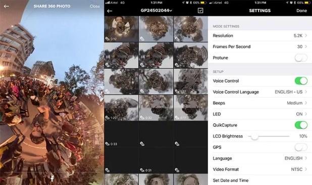 GoPro Fusion app iphone ndtv GoPro Fusion