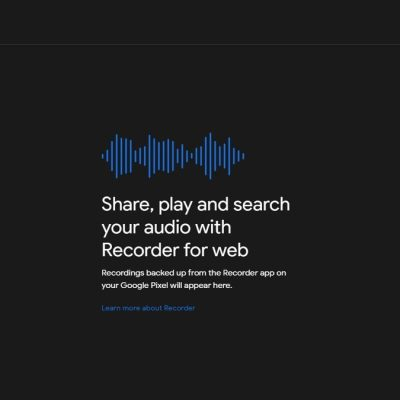 Google Recorder Web App Offers Transcriptions for Pixel Audio Recordings