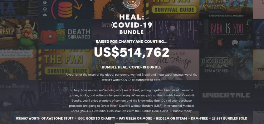 Humble Heal: COVID-19 Bundle Helps Raise Funds for COVID-19 Relief in India