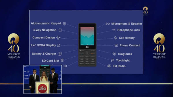 Jio Phone, Free With Rs. 1,500 Deposit, Unlimited 4G Data ...