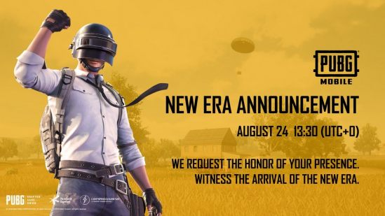 PUBG Mobile New Era Announcement Teased for August 24, May Bring ...