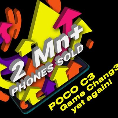Poco C3 Crosses 2 Million Units Sold in India in Nine Months