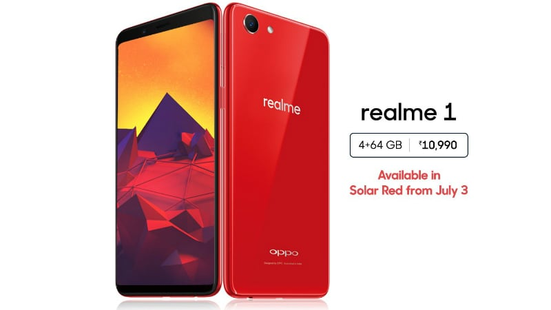 realme 1 4gb ram variant coming in solar red colour starting