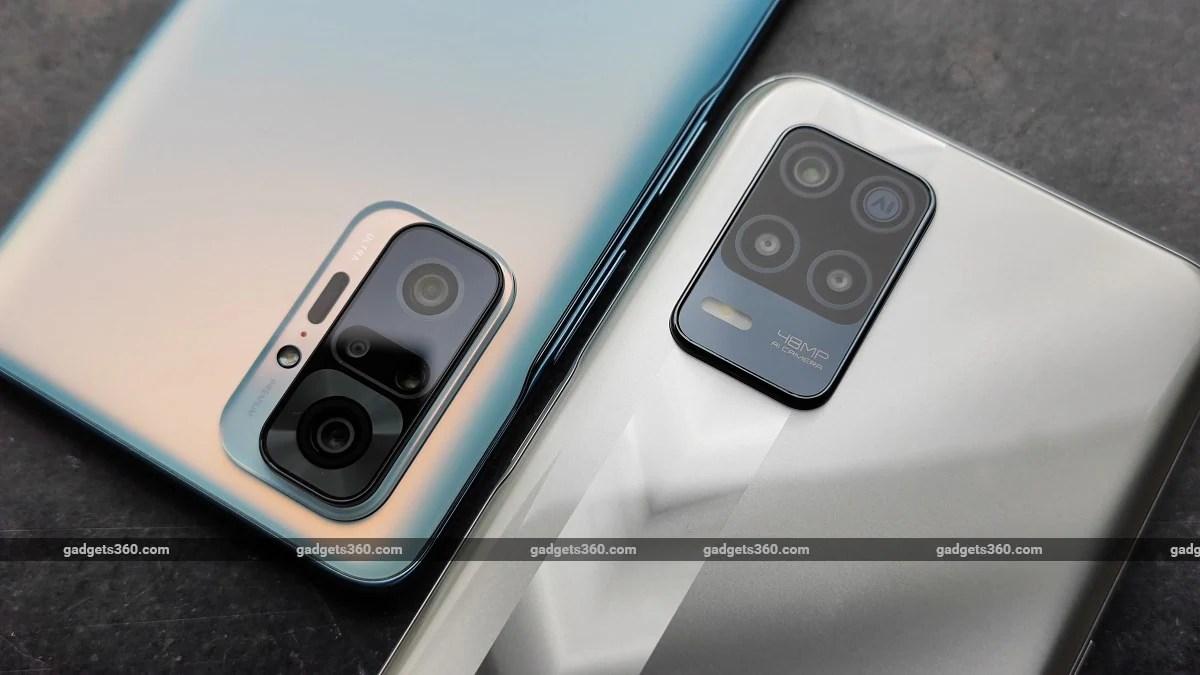 Realme Narzo 30 5G vs Xiaomi Redmi Note 10 Pro back cameras ndtv RealmeNarzo305G  Realme  XiaomiRedmiNote10Pro  Xiaomi