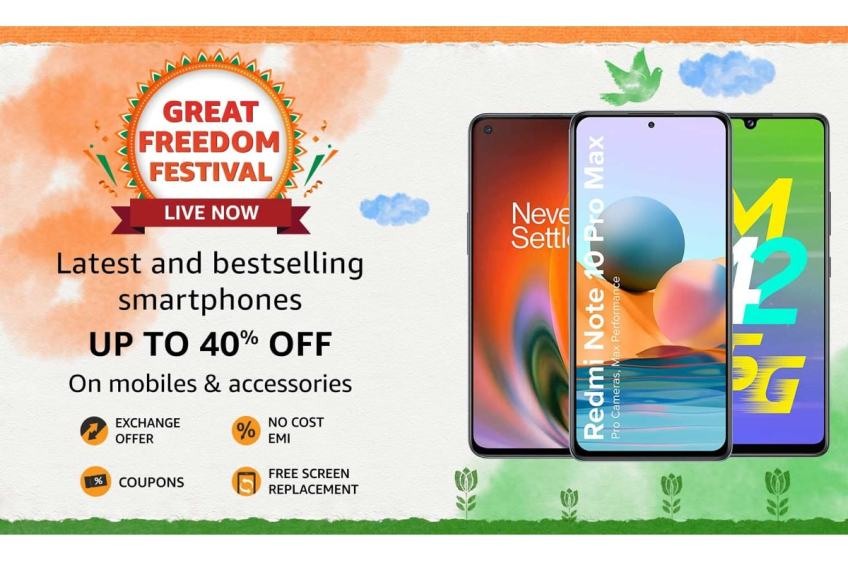 Amazon Great Freedom Festival Sale: Best Deals on Smartphones and Gadgets