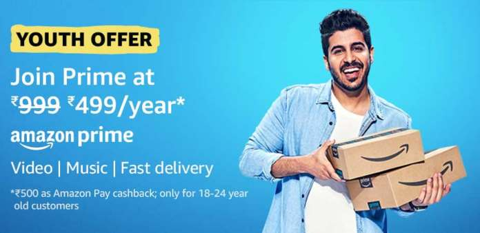 Amazon Prime Subscription at 50 Percent Off for Youngsters: All Details