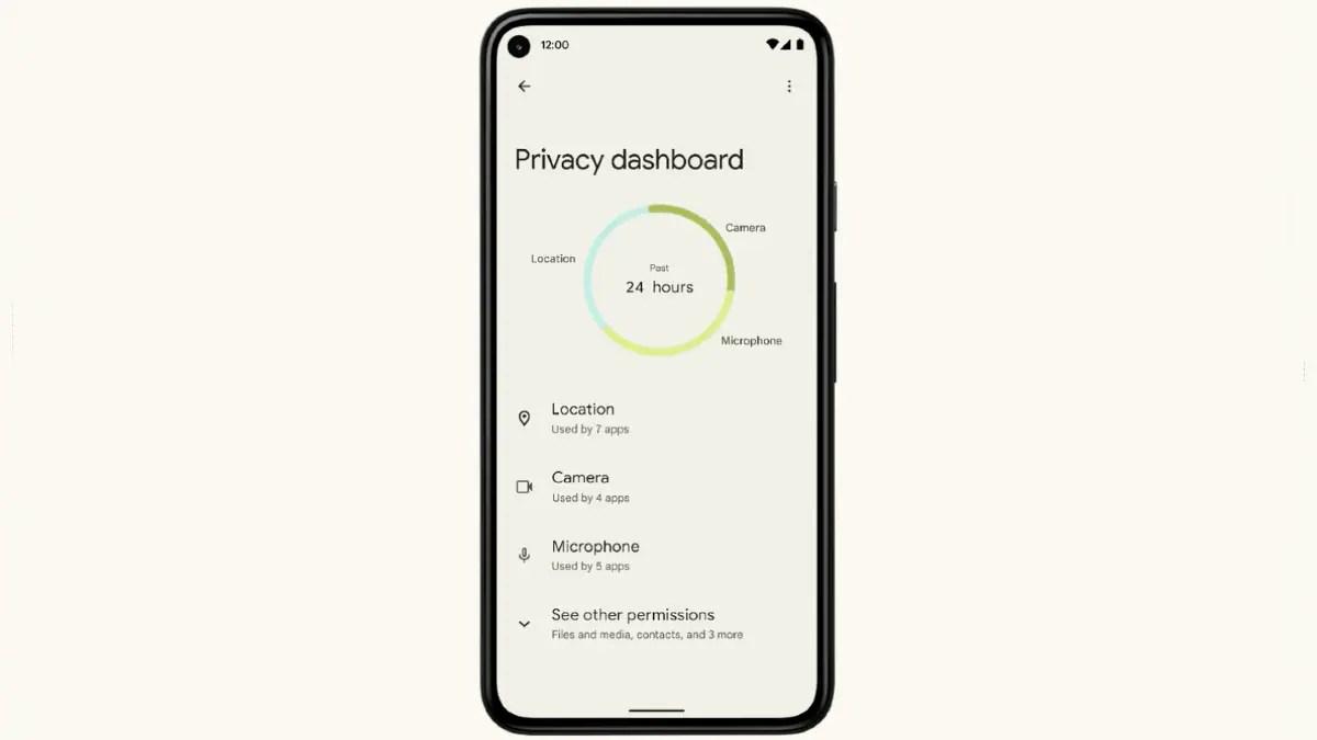 Android 12 गोपनीयता डैशबोर्ड छवि Google 1 Android 12 Google Android