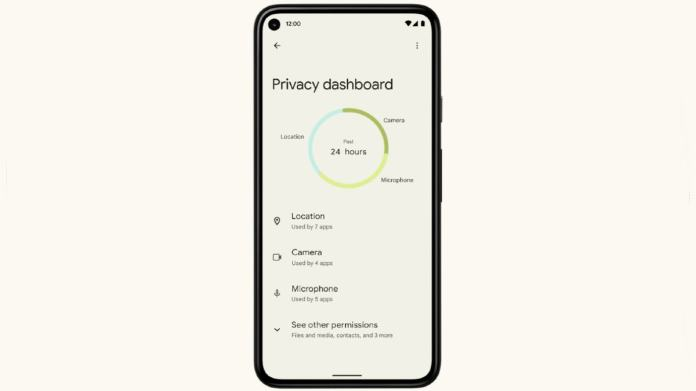 android 12 privacy dashboard image google 1 Android 12  Google  Android