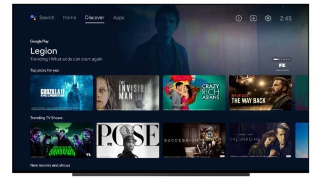 android tv interface update discover tab image google Android TV