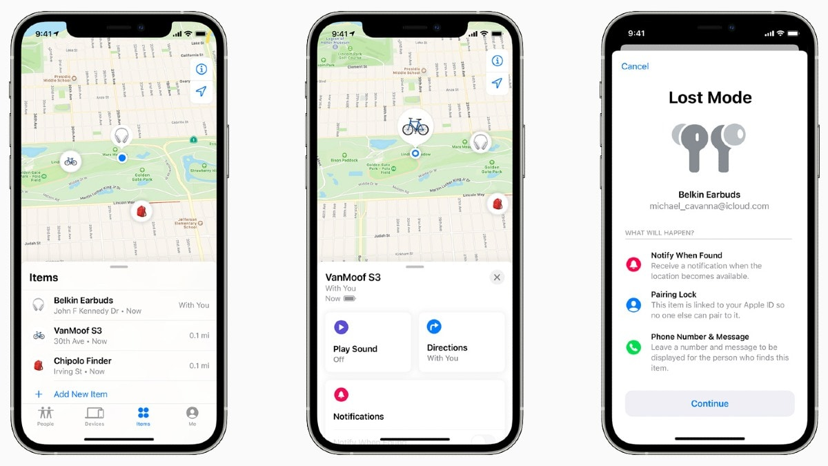 apple find my network accessory programme image Apple  Apple Find My