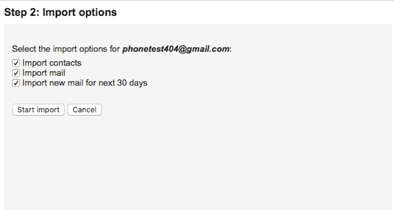 complete import gmail