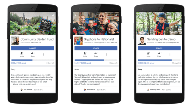 Facebook Expands Personal Fundraising Tools to More People, Causes