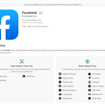 Facebook's App Store Privacy Labels: What They Mean for Your Data