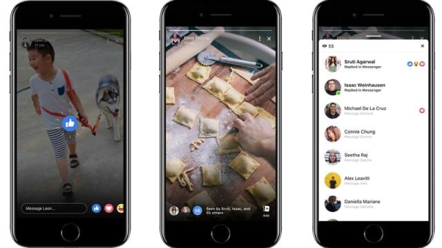 Facebook Stories Get Reactions, Group Chat Features