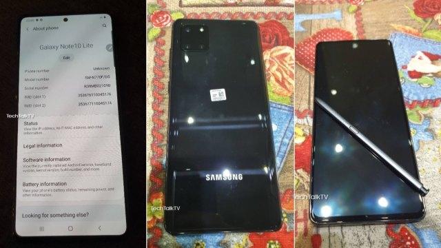 Samsung Galaxy Note 10 Lite Live Images Surface Online, Show Familiar Hole-Punch Design and Triple Rear Cameras