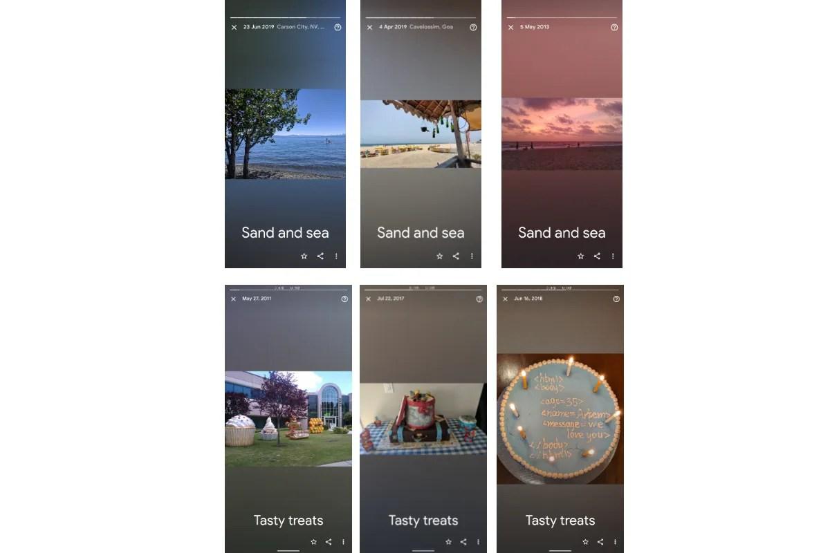 google photos memories sand sea tasty treats image android police Google Photos