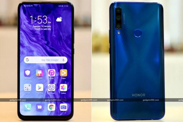 honor fi rear front gadgets 360 Honor 9X