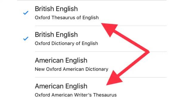 iOS 12 apple thesaurus iOS 12