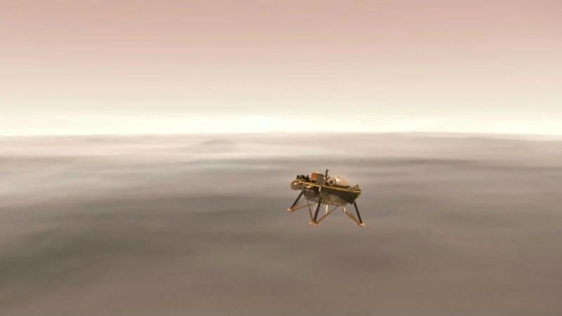 سوف ناسا InSight المركبة الفضائية الهبوط على سطح المريخ بث مباشر