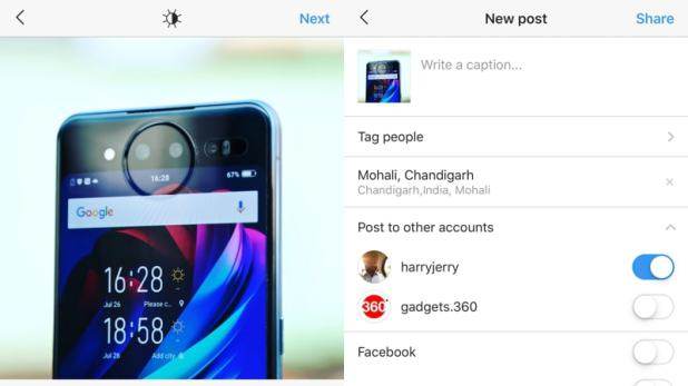 Instagram Now Lets iOS Users Post the Same Content to Multiple Accounts at the Same Time