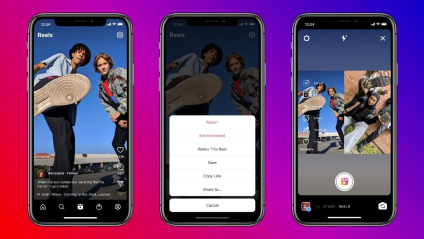 Instagram Launches 'Remix' Feature for Reels, Its Answer to TikTok Duets