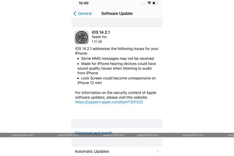 Apple Brings iOS 14.2.1 to Address Issues With iPhone 12 Series, Fixes iPhone 12 mini Lock Screen Problem