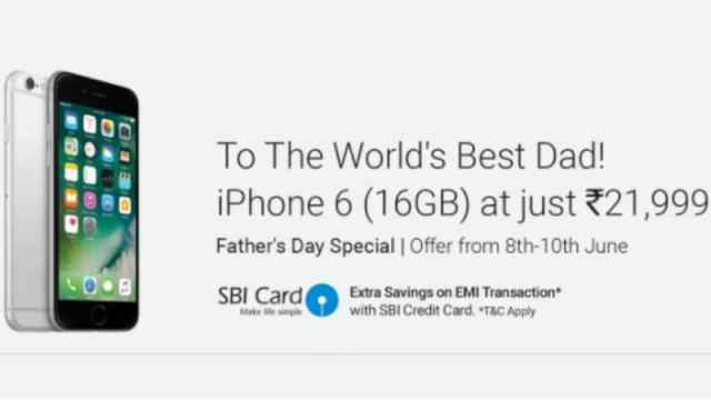 Flipkart iPhone 6 Offer: 16GB Model Available at Just Rs. 21,999 in Father's Day Promotion