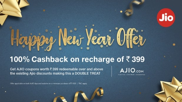 Jio Happy New Year Offer Gives '100 Percent Cashback' on Rs. 399 Recharge