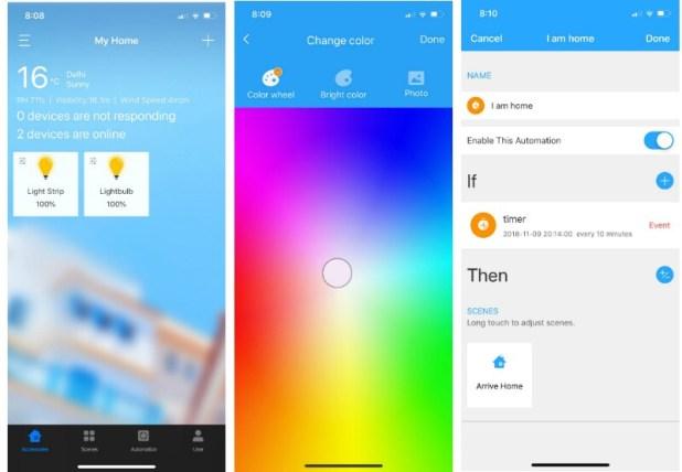 koogeek smart bulb strip gadgets 360 screenshot Koogeek
