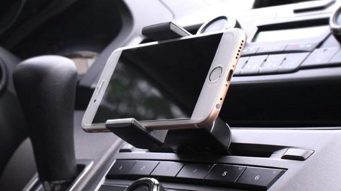 koomus cd mount iPhone holder car amazon CD mount
