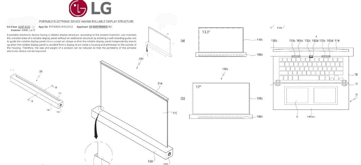 LG May Have a 17-Inch Rollable Laptop in the Works, Patent Suggests