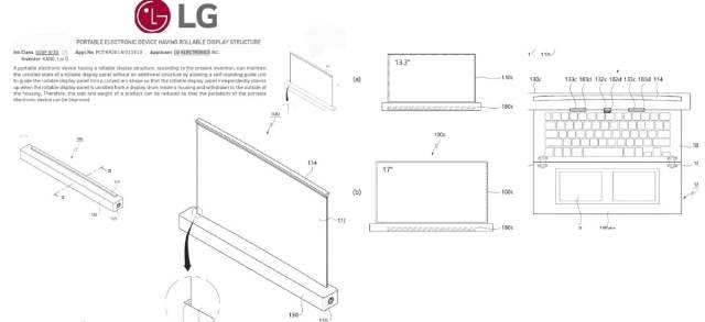 lg rollable laptop patent application images root my galaxy LG