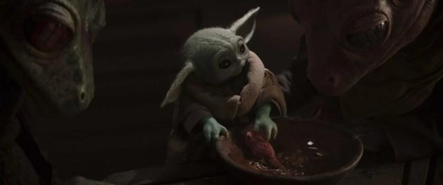 mandalorian season 2 episode 3 baby yoda frog tadpole mandalorian season 2 episode 3