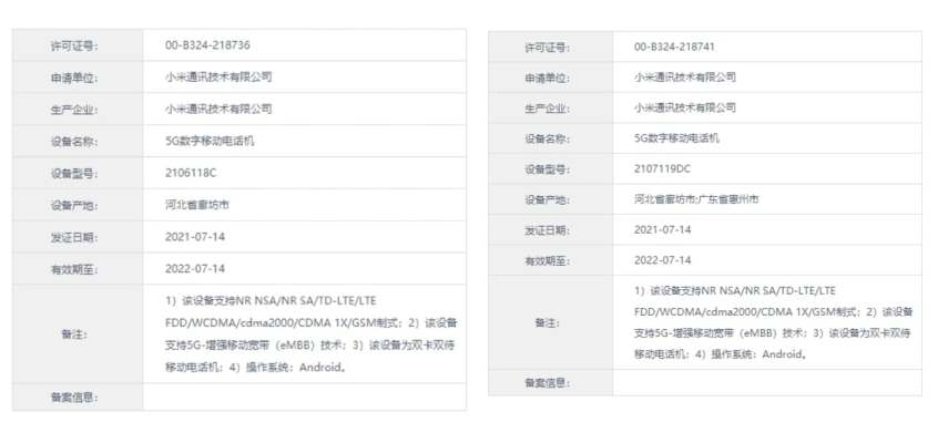Mi Mix 4, Mi CC 11, and Mi Pad 5 Specifications Tipped