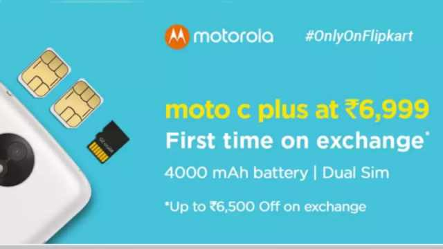 Moto C Plus Now Available for as Low as Rs. 499 With Flipkart Exchange Offer
