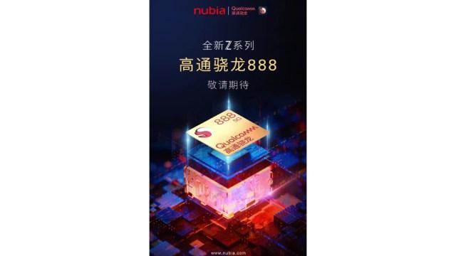 nubia z series snapdragon 888 teaser weibo Nubia Z