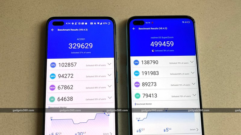 oneplus nord vs realme x3 superzoom antutu ww