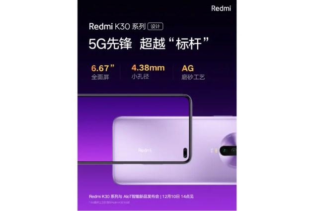 redmi k30 display teaser image weibo Redmi K30