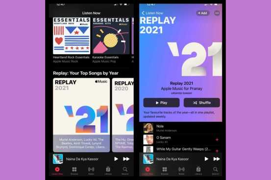 The Apple Music Replay 2021 playlist is now available in applications and on the Internet