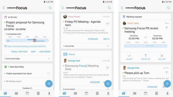Samsung Focus App With Unified Mail, Contacts, and Calendar Launched