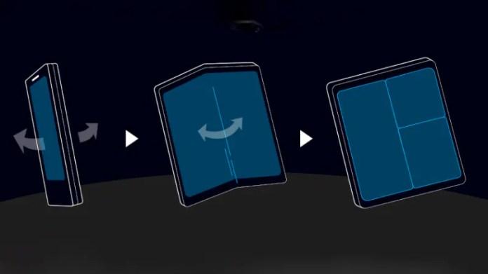 samsung foldable form factor Samsung foldable smartphone form factor