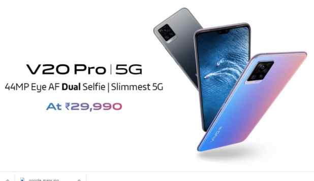 Vivo V20 Pro 5G Launched in India With Snapdragon 765G SoC, Dual Selfie Camera: Price, Specifications