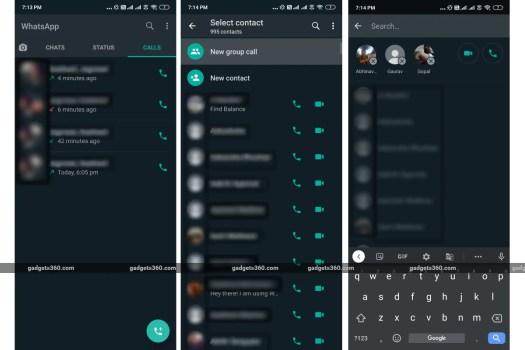 whatsapp android group call screenshots gadgets 360 WhatsApp