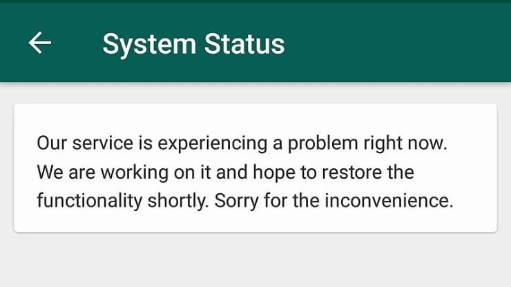 WhatsApp Is Down for Some Users in India and Other Regions