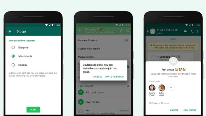 WhatsApp Group Invite Feature