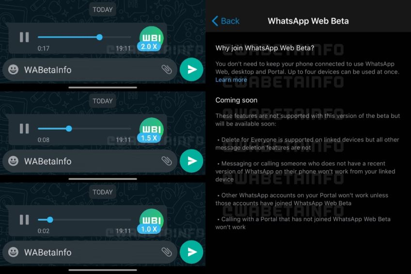 WhatsApp Reportedly Working on Voice Messages Playback Speed Feature