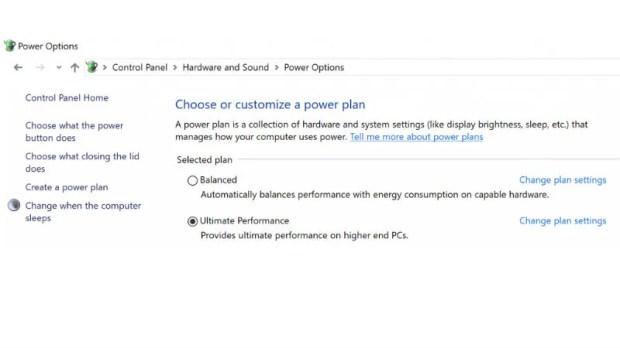 windows 10 ultimate performance scheme Windows 10 Ultimate Performance