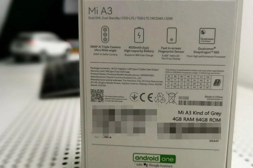 xiaomi mi a3 retail box soyacincau Xiaomi Mi A3